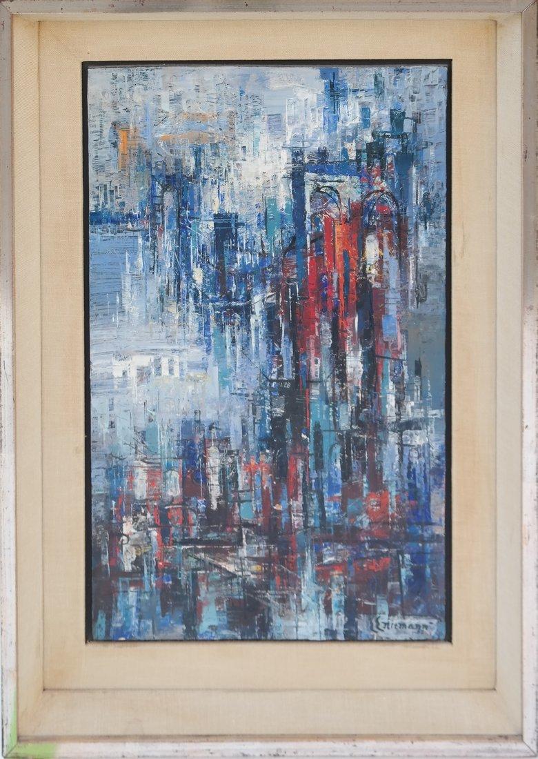 E.E. Niemann, Cityscape, O/Board - 2