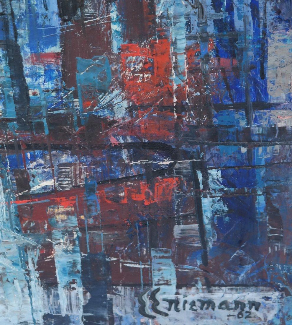 E.E. Niemann, Cityscape, O/Board - 3