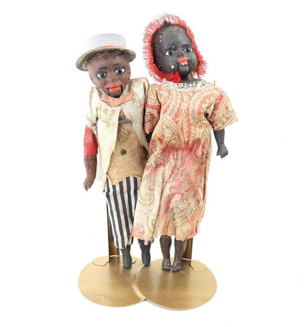 Pair of Folk Art Style Dolls