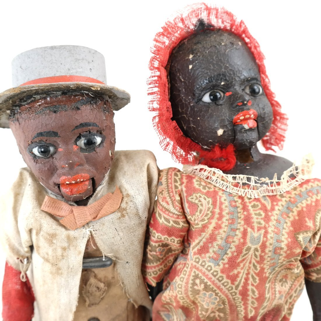 Pair of Folk Art Style Dolls - 2