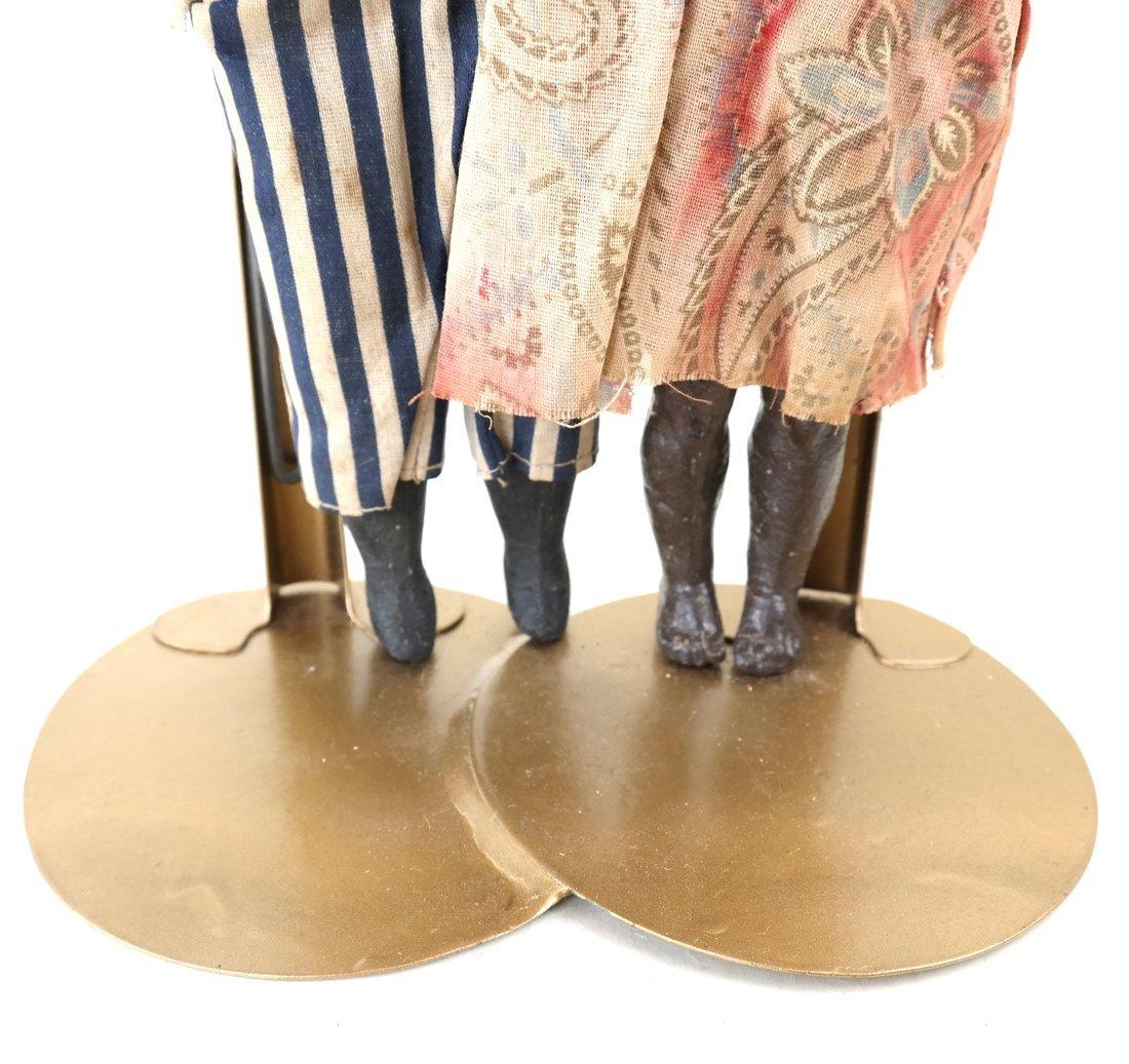 Pair of Folk Art Style Dolls - 3