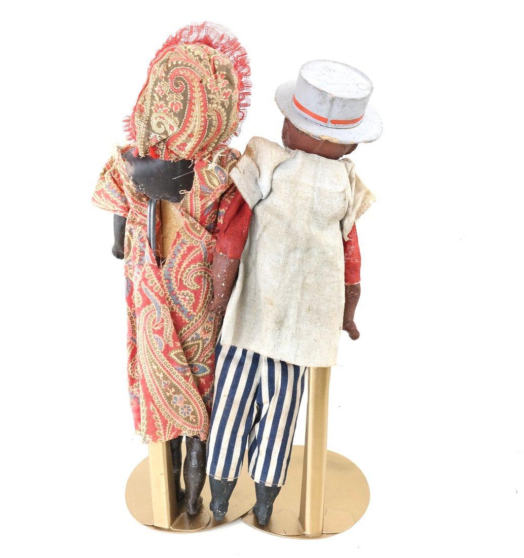 Pair of Folk Art Style Dolls - 4