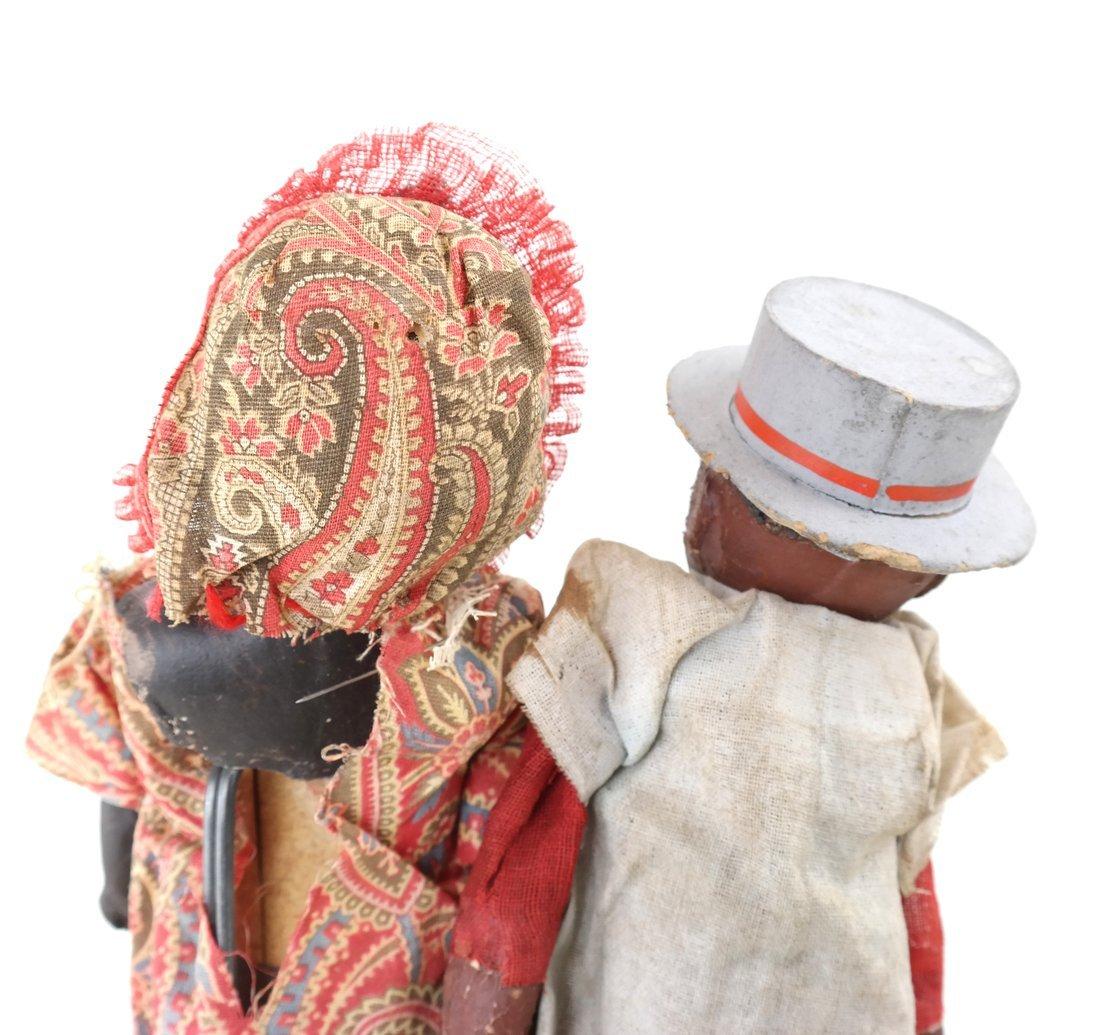Pair of Folk Art Style Dolls - 5