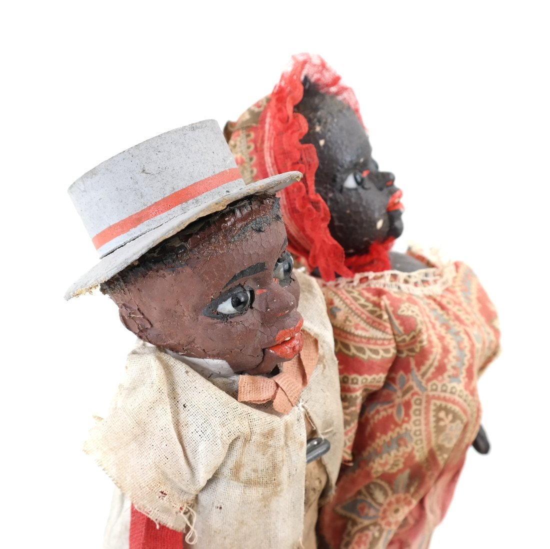 Pair of Folk Art Style Dolls - 6