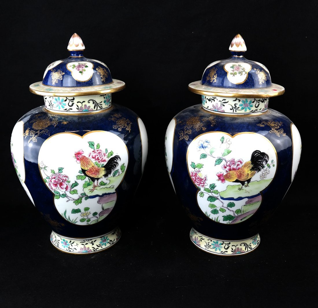 Pair of English Ginger Jars