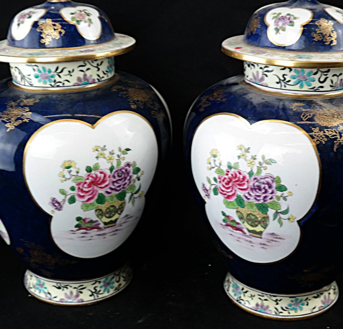 Pair of English Ginger Jars - 7