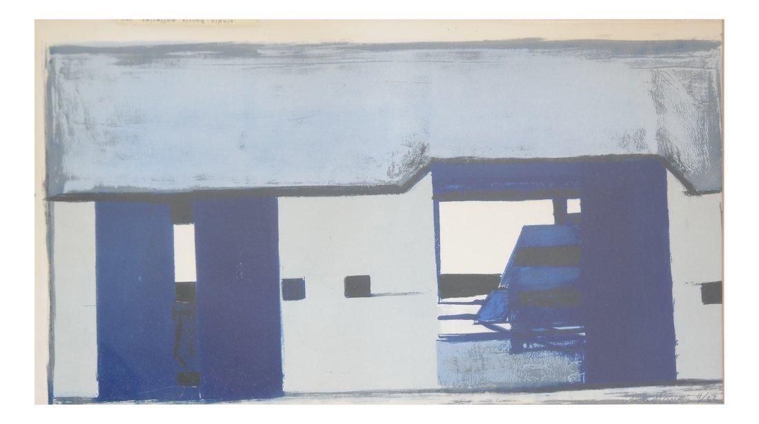 "Arne Hansen ""Blue Farm"" Print"