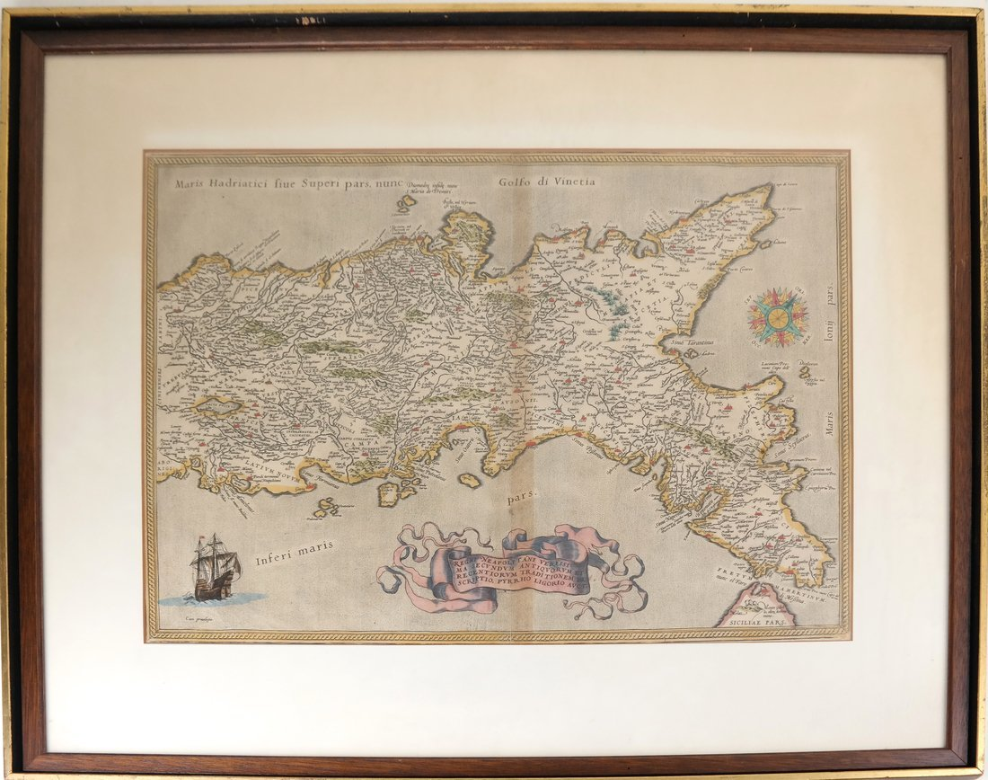 Framed Map of Italy - 2