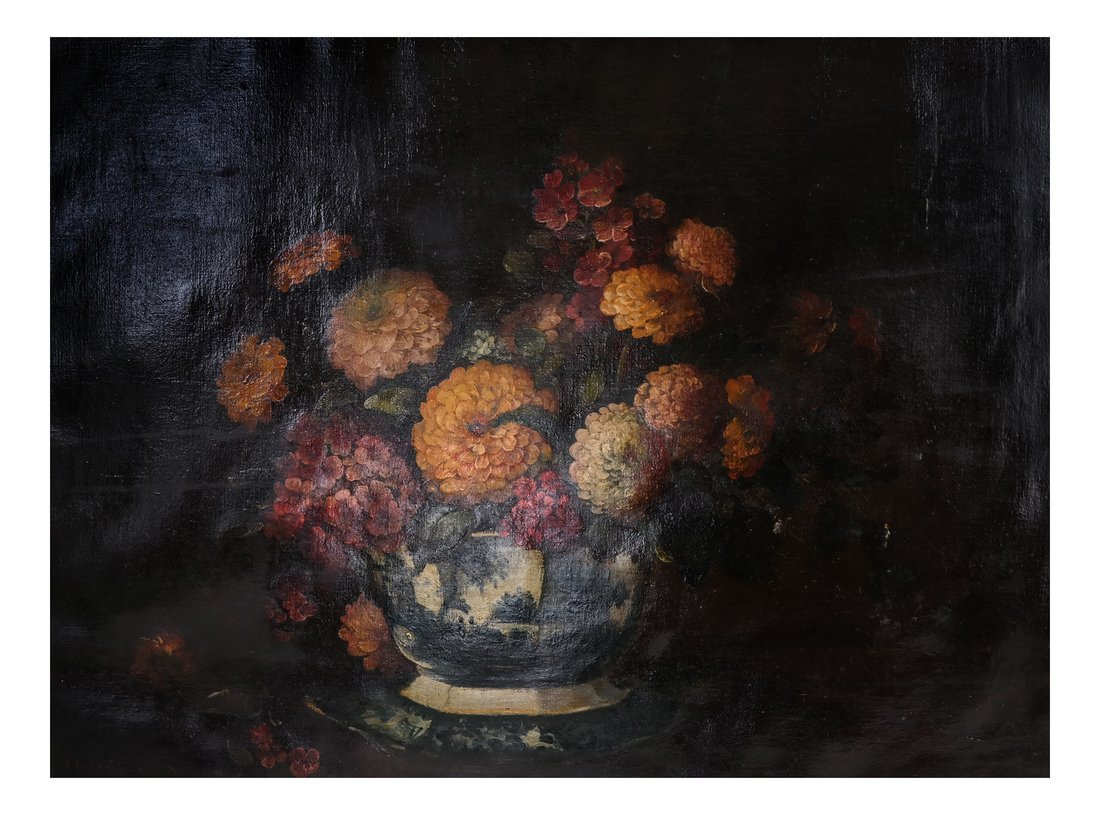 19th Cent. Floral Still Life, Oil/Canvas - 2