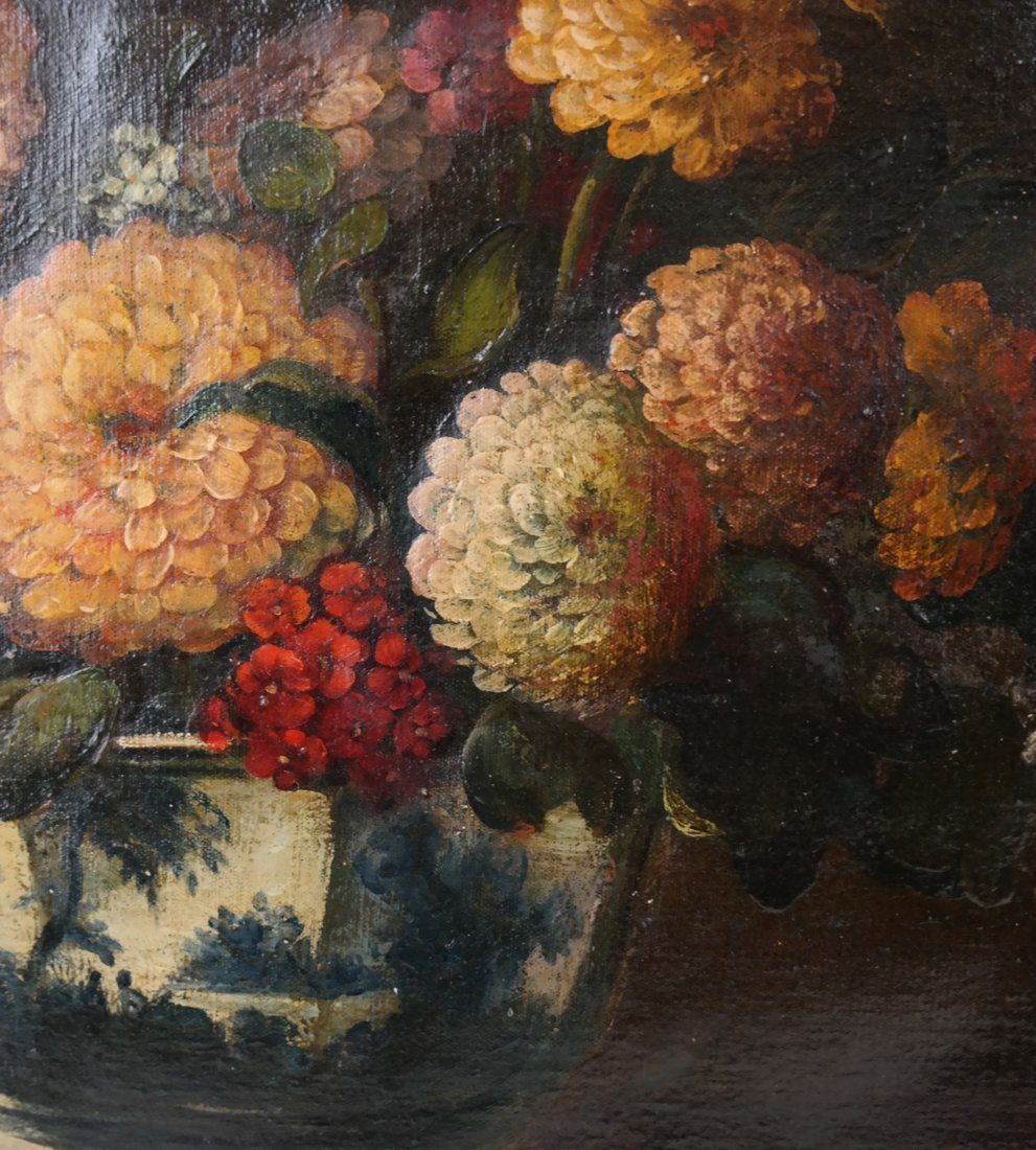 19th Cent. Floral Still Life, Oil/Canvas - 4