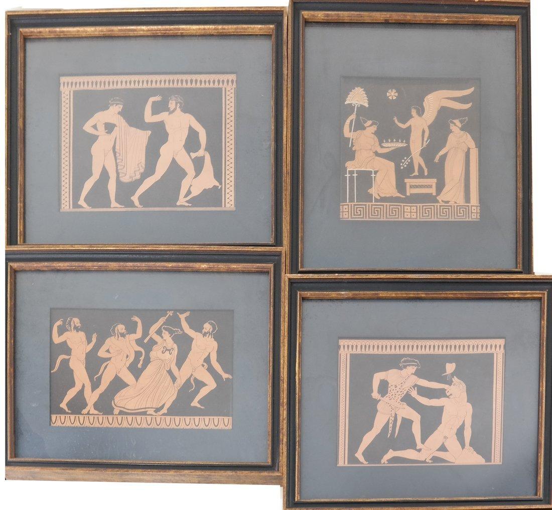 Four Grecian-Style Prints