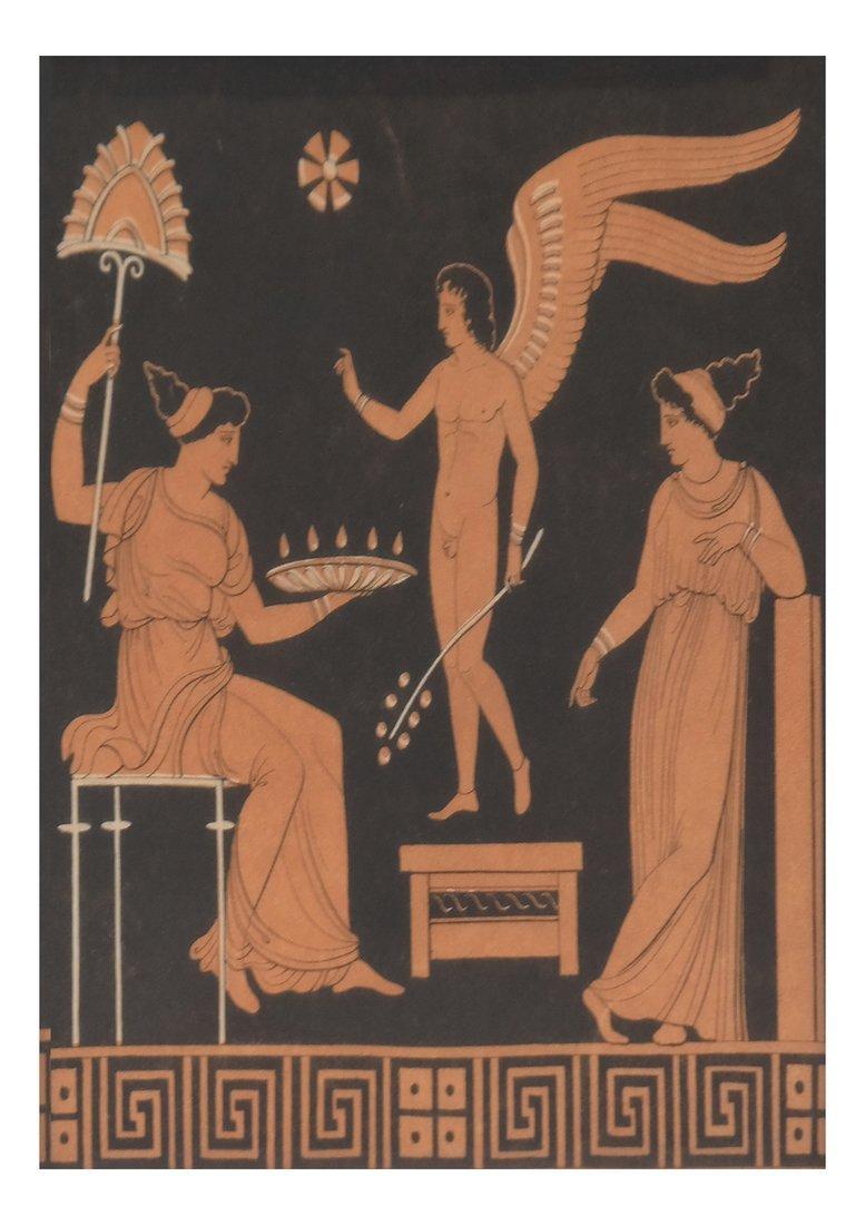 Four Grecian-Style Prints - 3