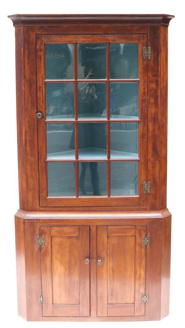 American Pine Corner Cabinet