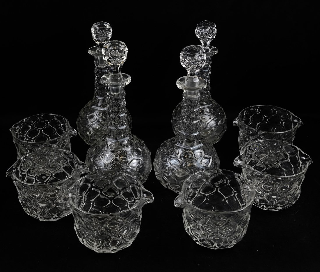 Ten British Glass Table Articles