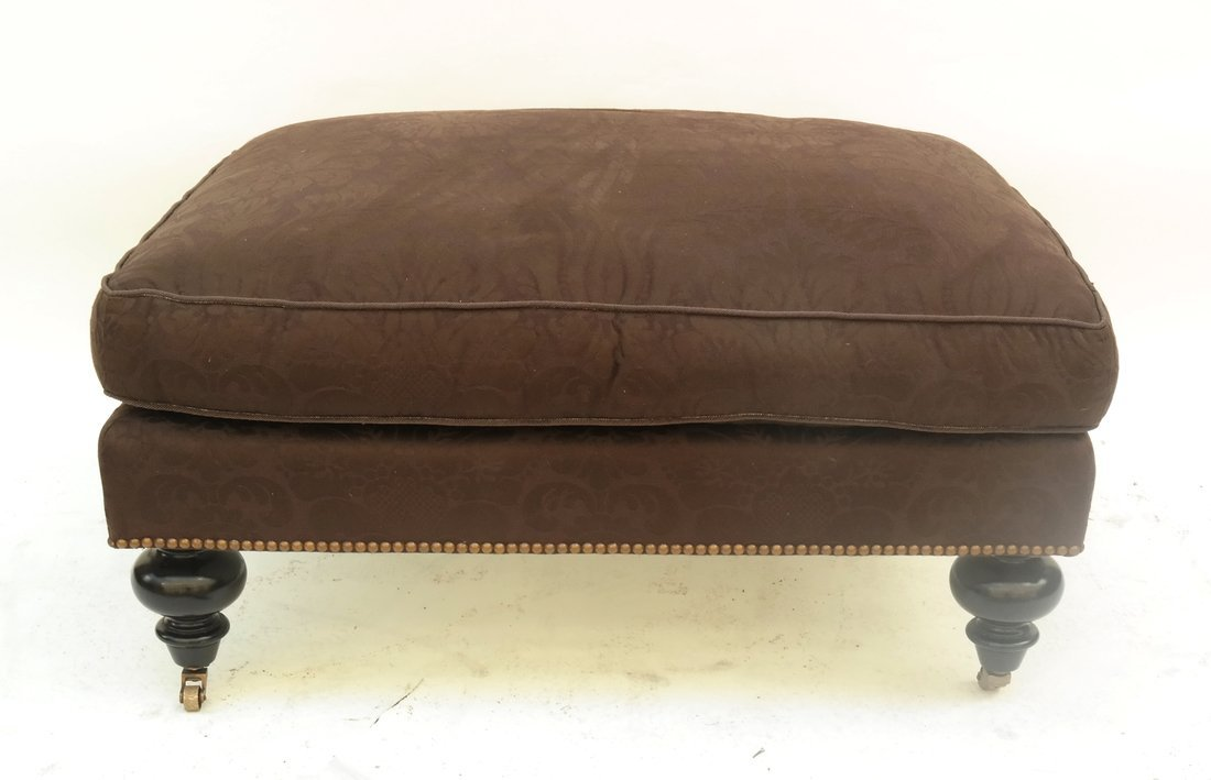 Upholstered Club Chair and Ottoman - 3