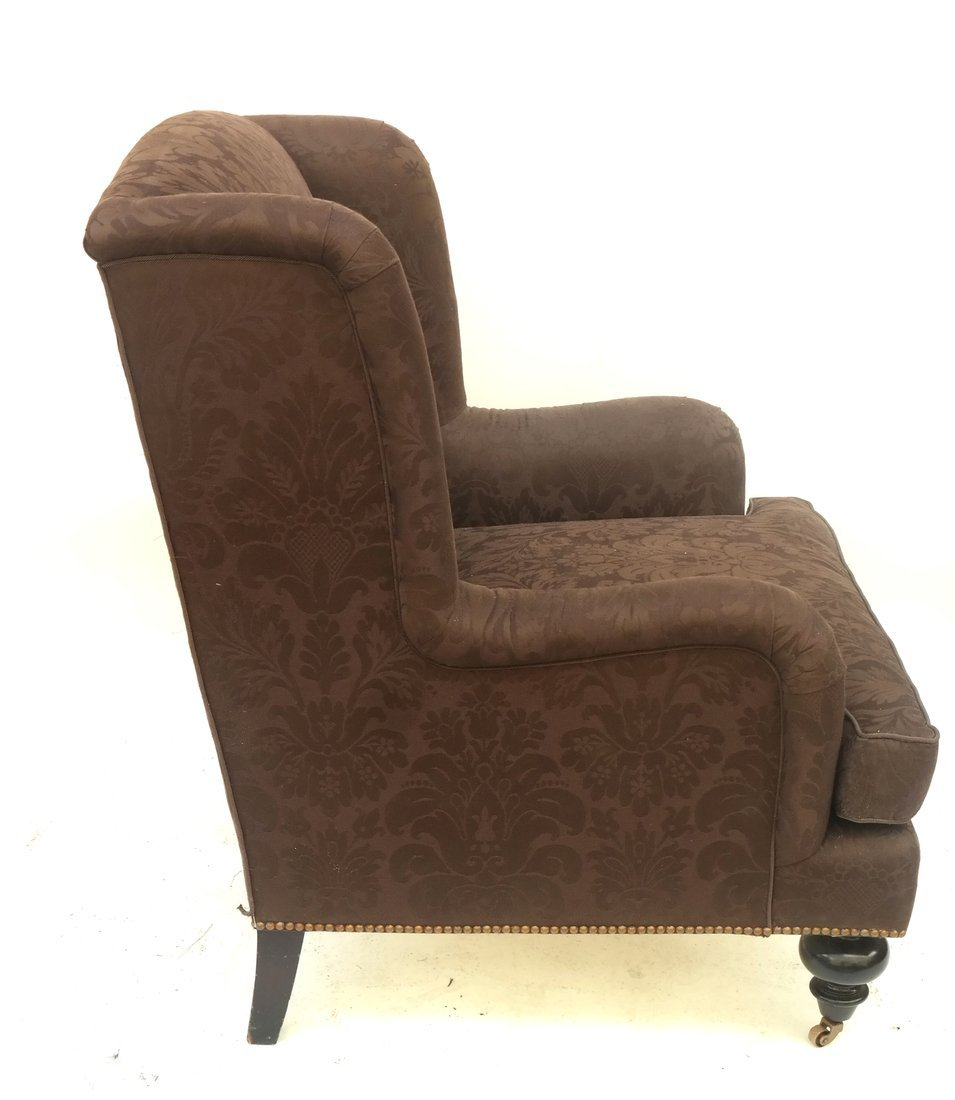 Upholstered Club Chair and Ottoman - 4