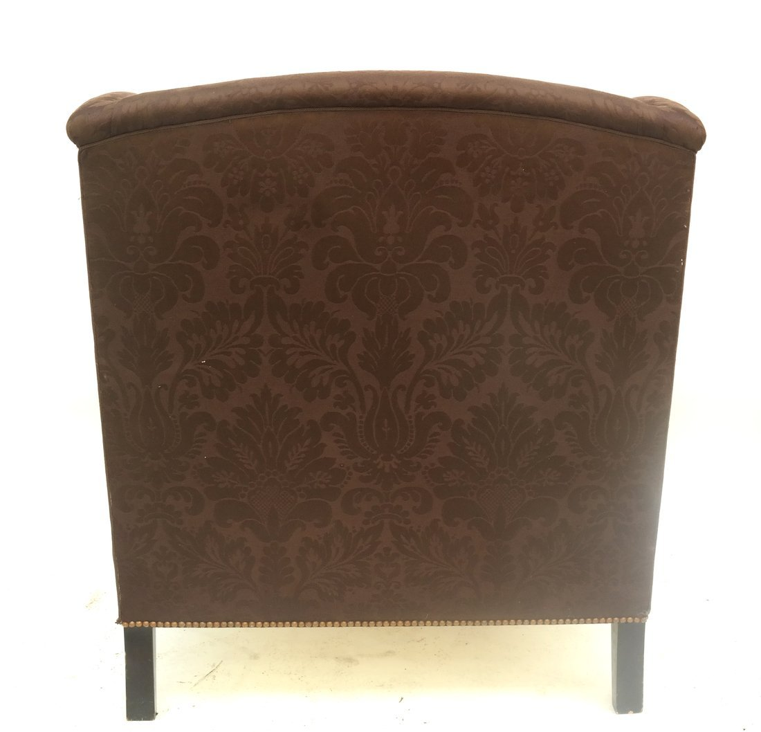 Upholstered Club Chair and Ottoman - 7