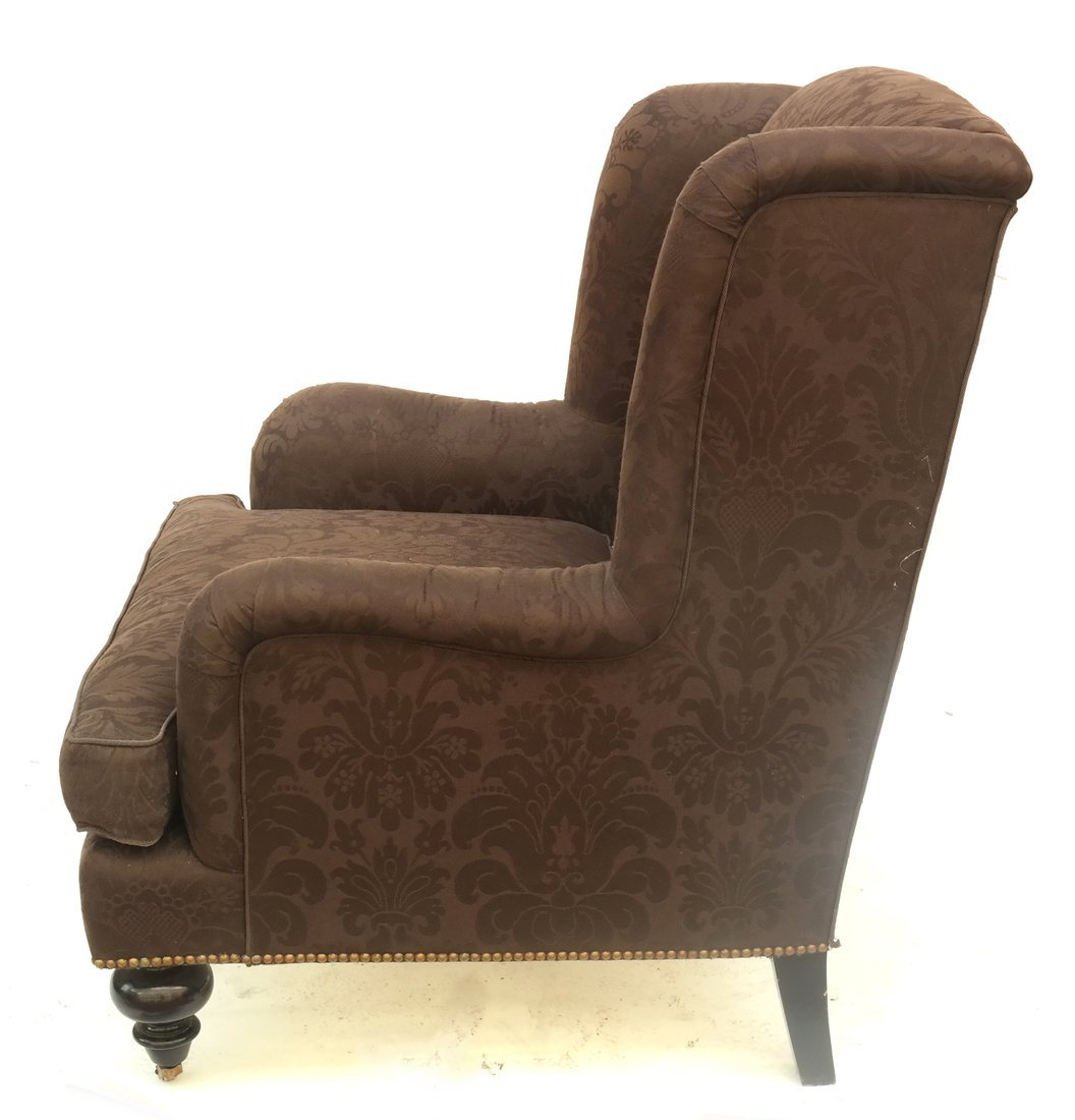 Upholstered Club Chair and Ottoman - 8