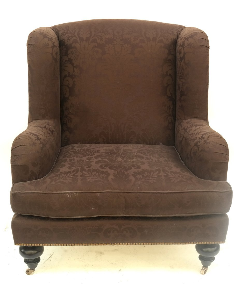 Upholstered Club Chair and Ottoman - 9