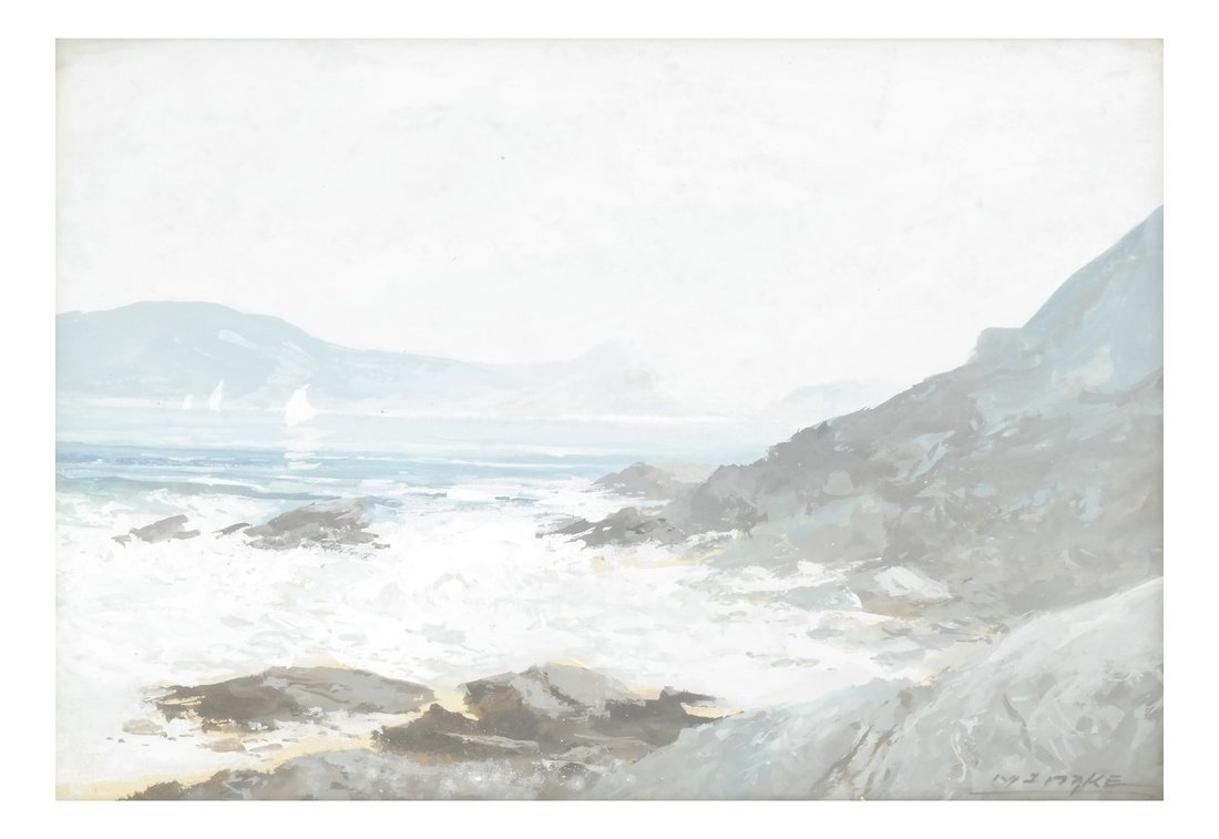 Coastal Seascape, Watercolor