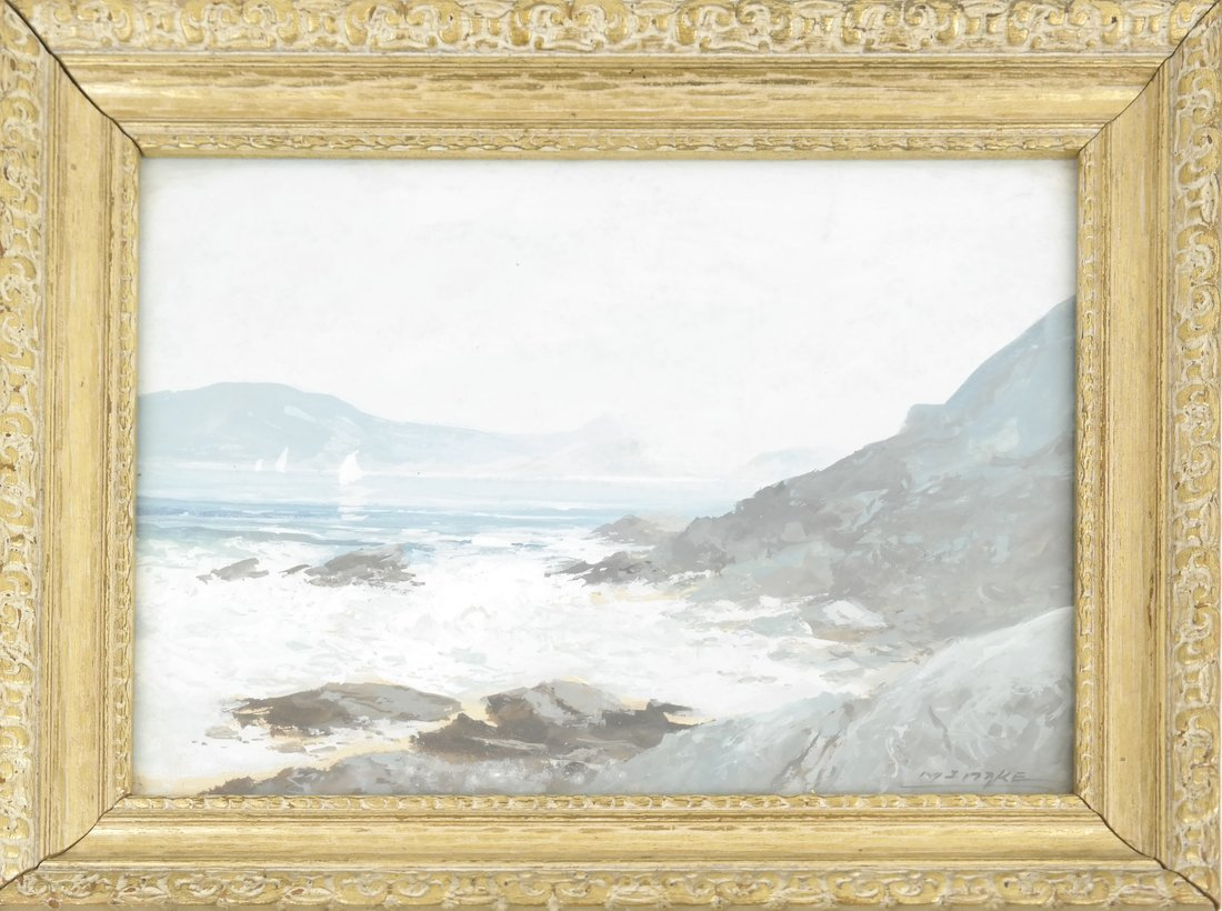 Coastal Seascape, Watercolor - 2