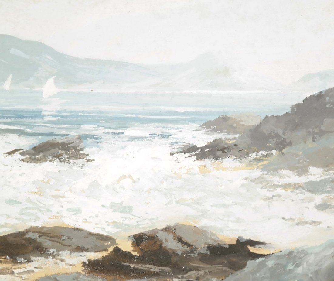 Coastal Seascape, Watercolor - 4
