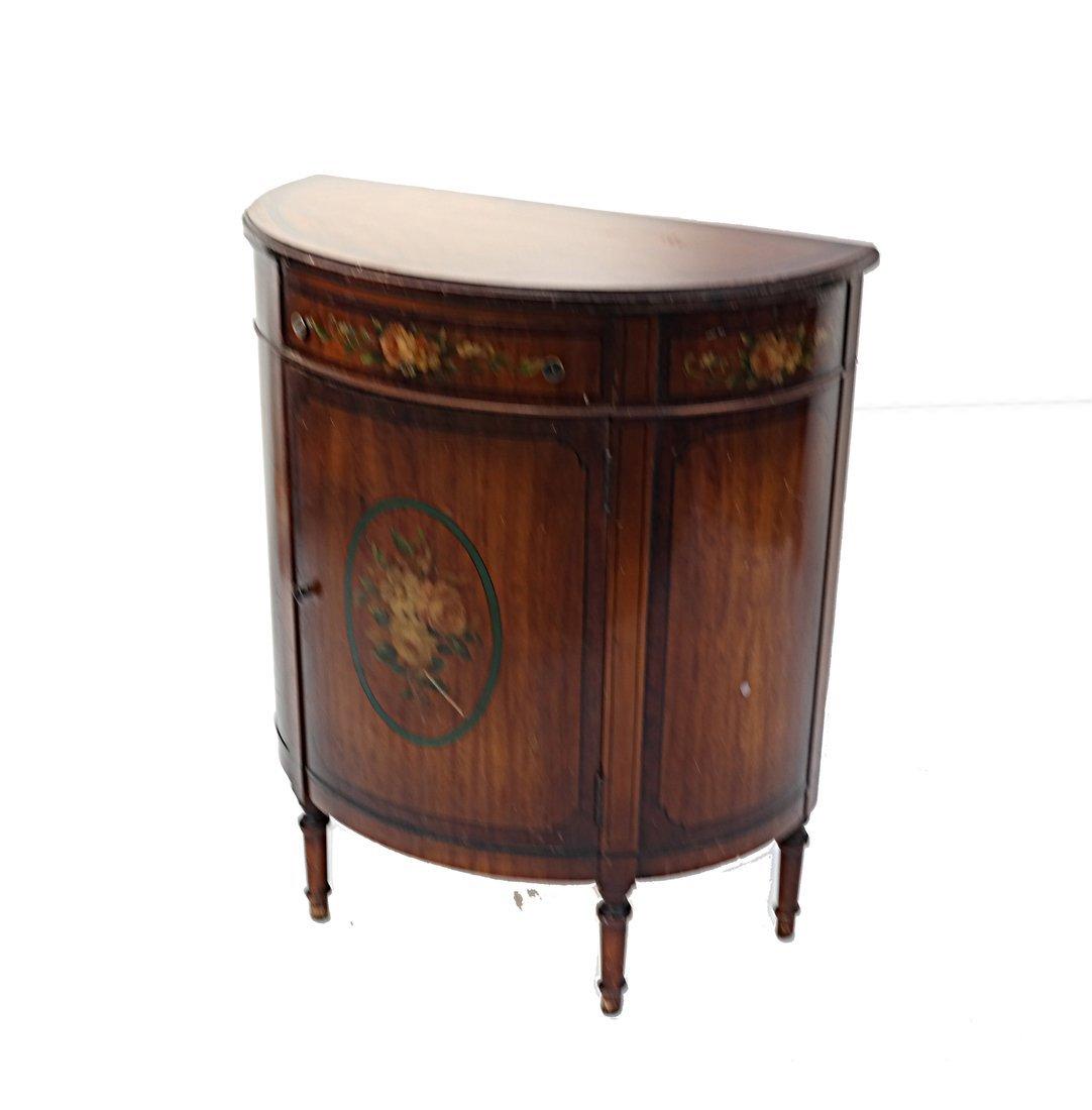 Louis XVI-Style Demilune Cabinet