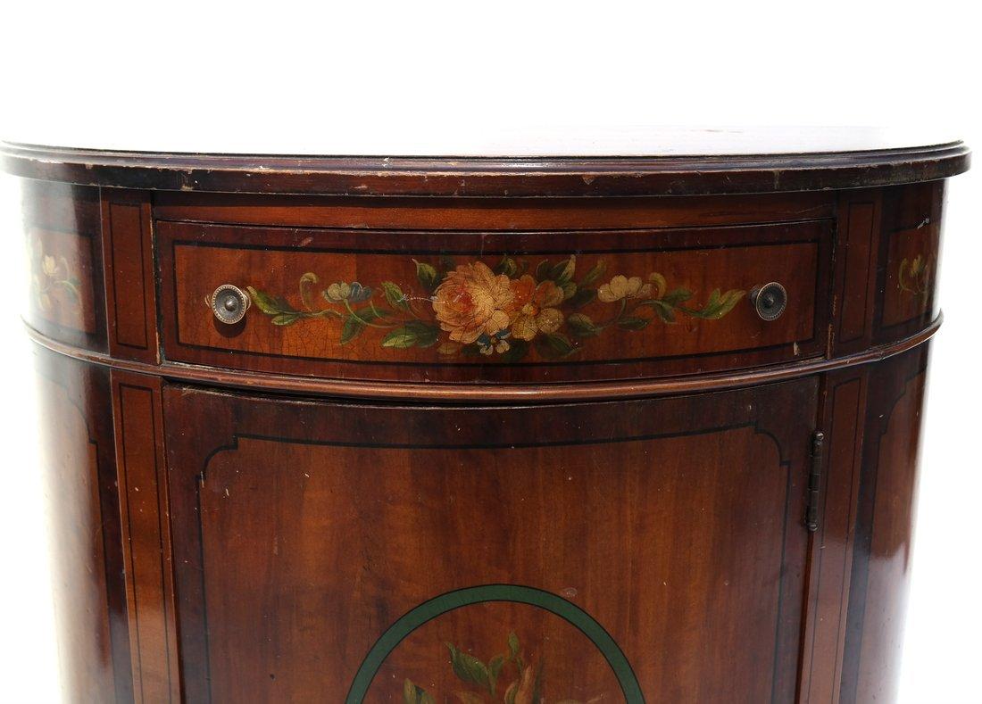 Louis XVI-Style Demilune Cabinet - 4