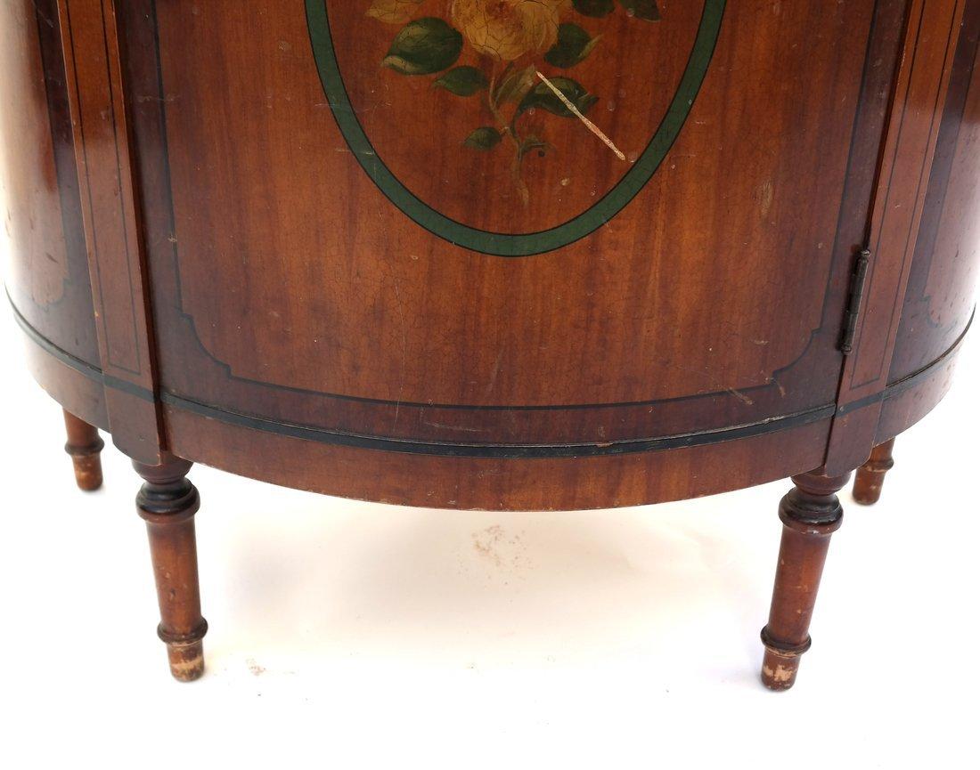 Louis XVI-Style Demilune Cabinet - 5