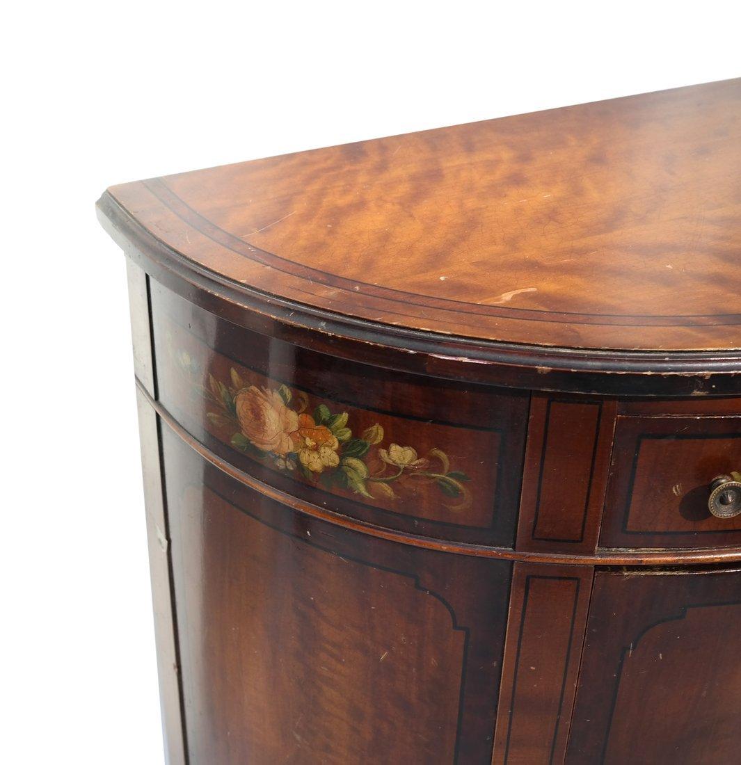 Louis XVI-Style Demilune Cabinet - 6