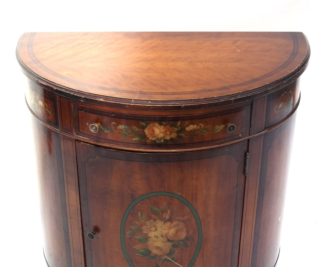 Louis XVI-Style Demilune Cabinet - 7