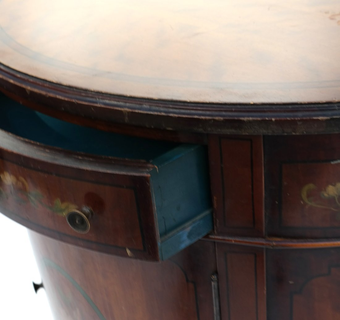 Louis XVI-Style Demilune Cabinet - 8