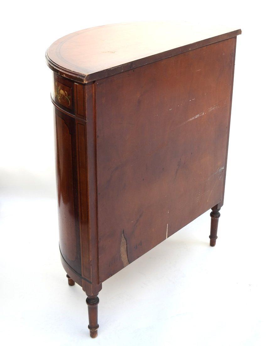Louis XVI-Style Demilune Cabinet - 9