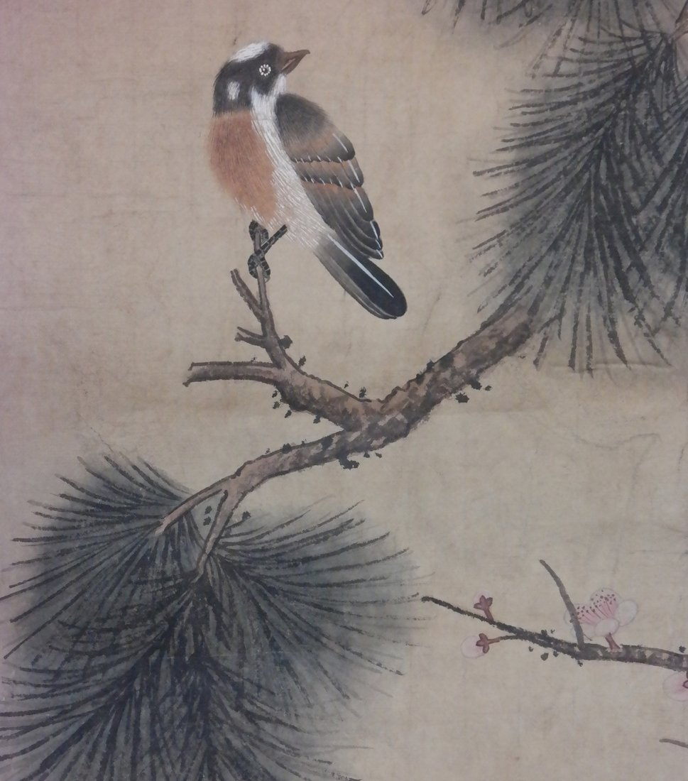 Two Chinese Scrolls on Silk - 5