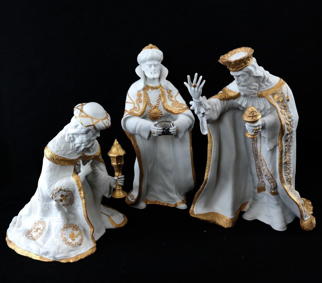 Three Boehm Christmas Figures