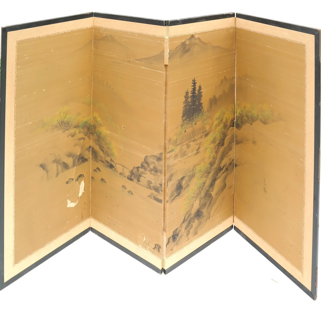 Four Fold Asian Screen