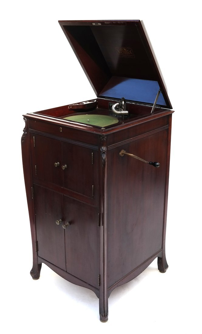 Victrola Phonograph and Case