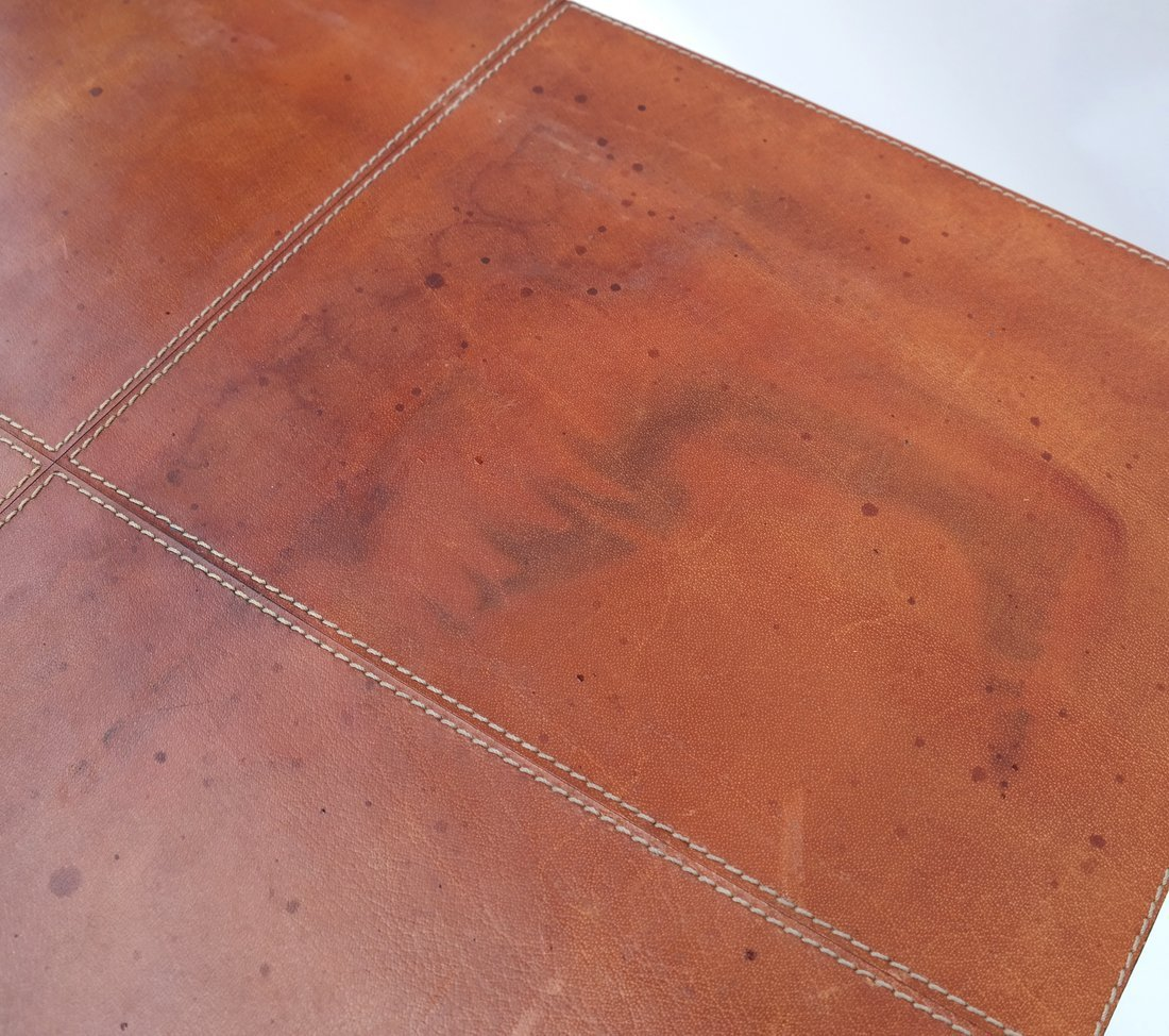 Nest of Three Leather Tables - 6