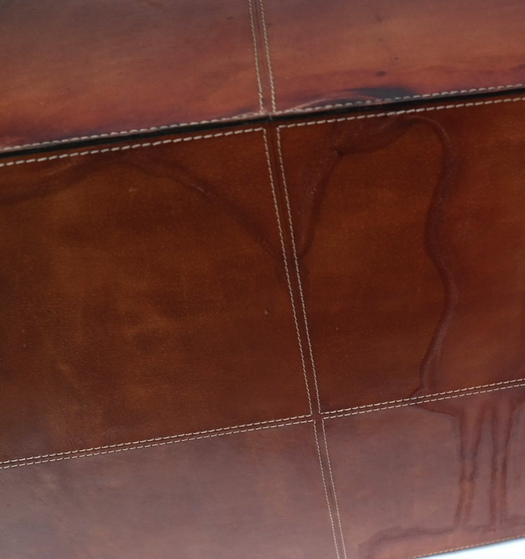 Nest of Three Leather Tables - 9