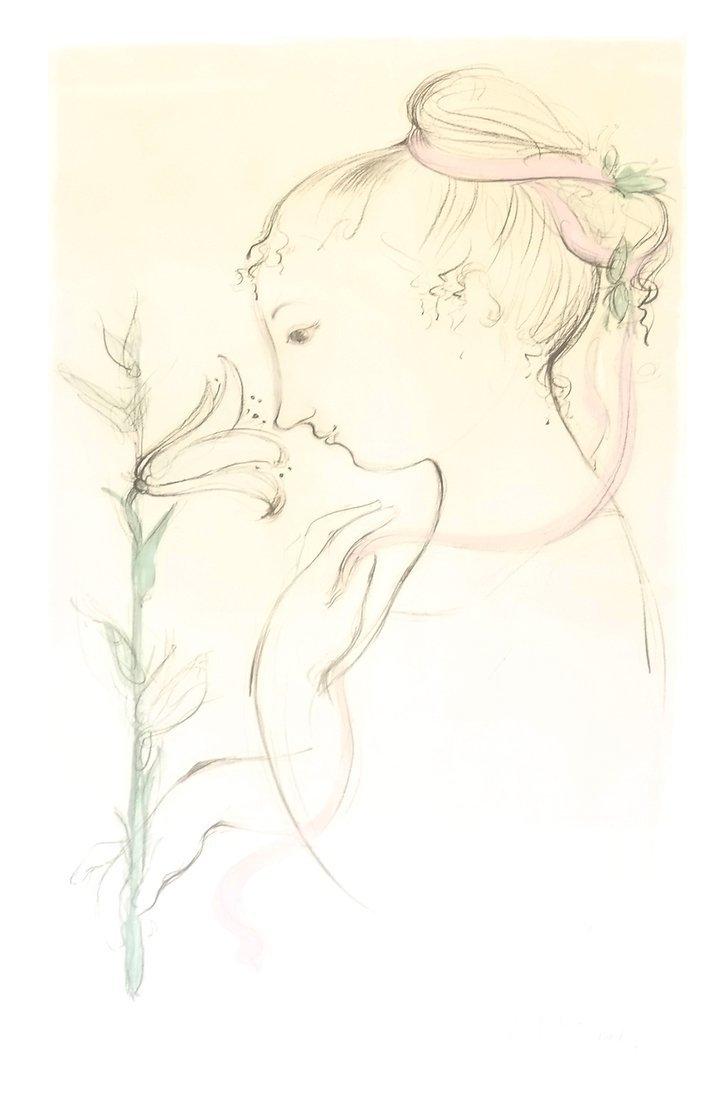 Bjorn Wiinblad Portrait of a Girl