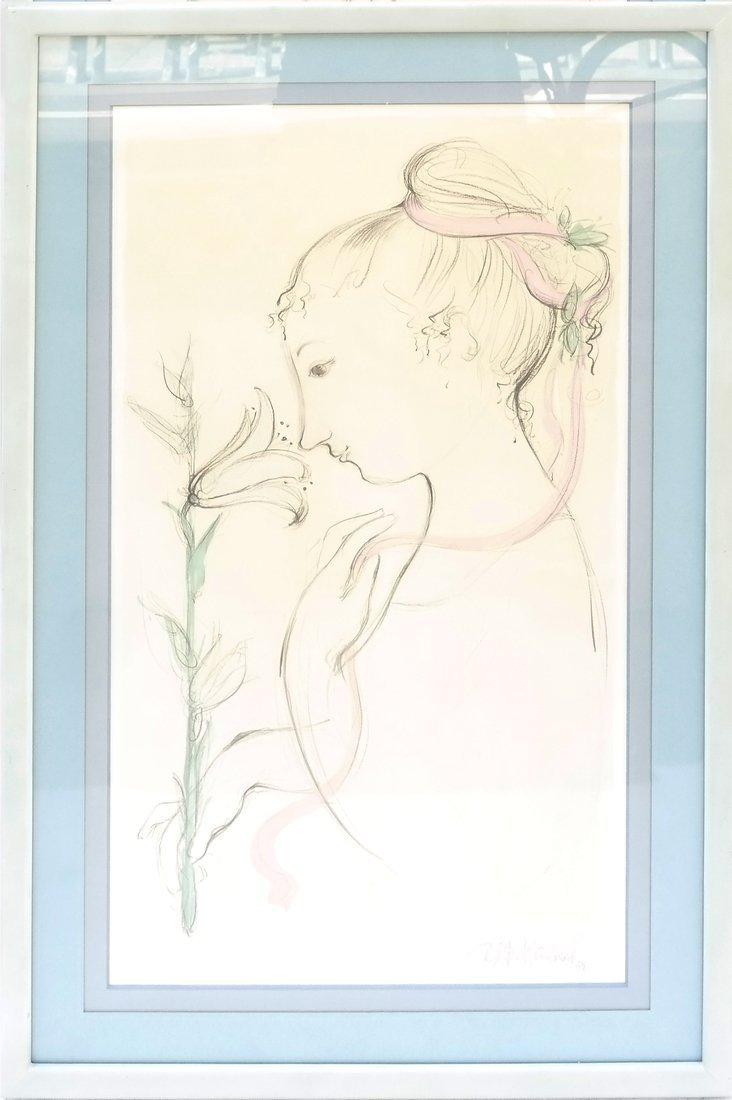 Bjorn Wiinblad Portrait of a Girl - 2