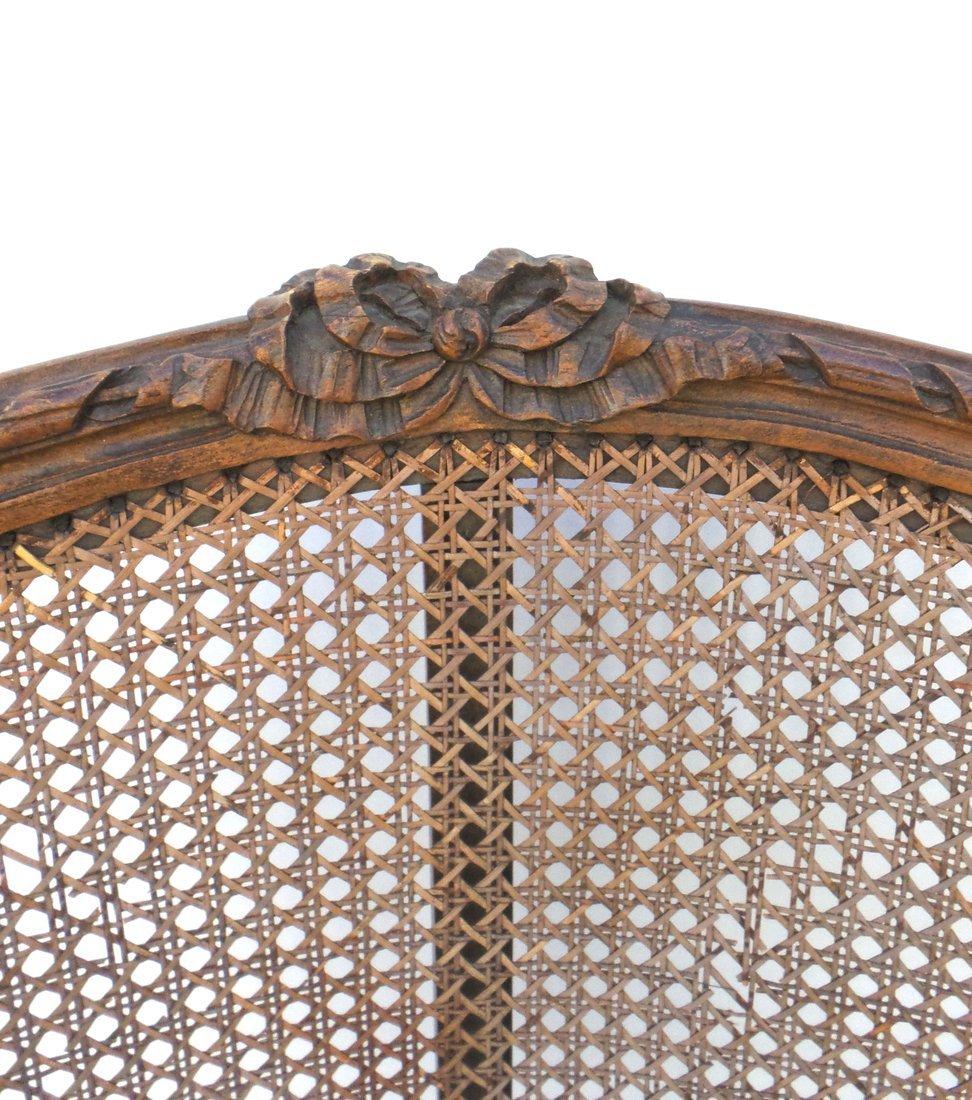 Pair of Louis XVI Style Carved Bergeres - 3