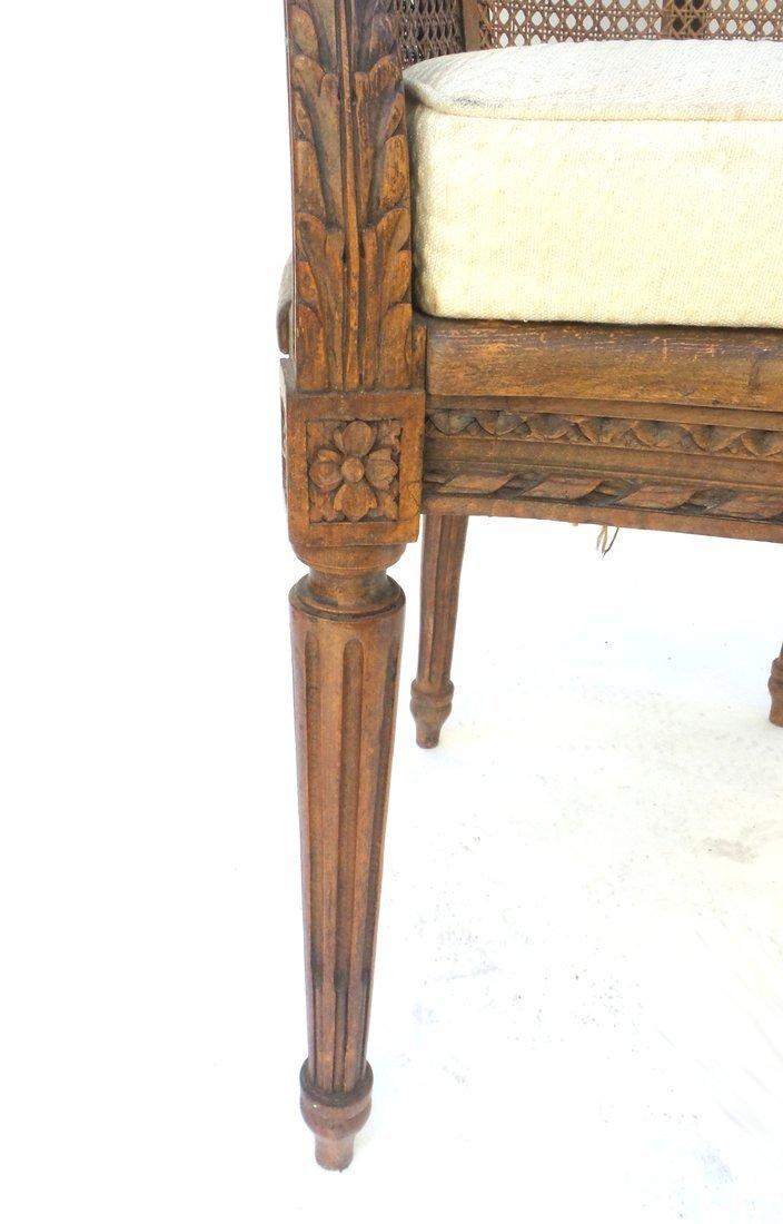 Pair of Louis XVI Style Carved Bergeres - 5