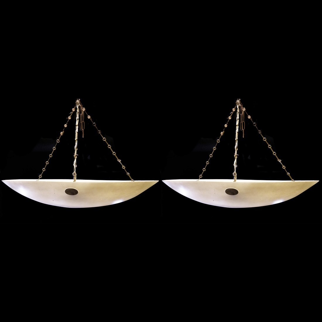 Pair of Modern Circular Light Fixtures