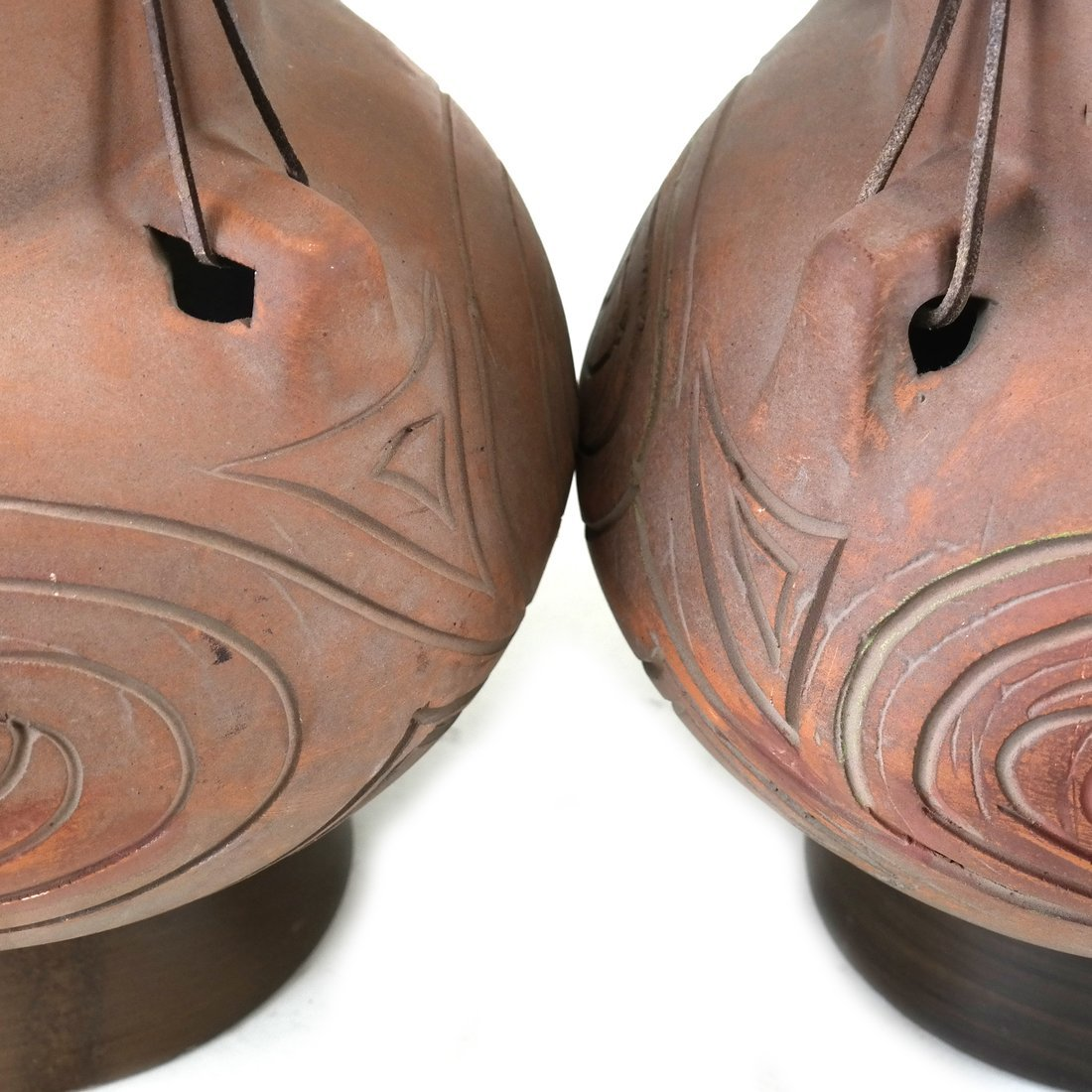 Pair of Decorated Ceramic Lamps - 5