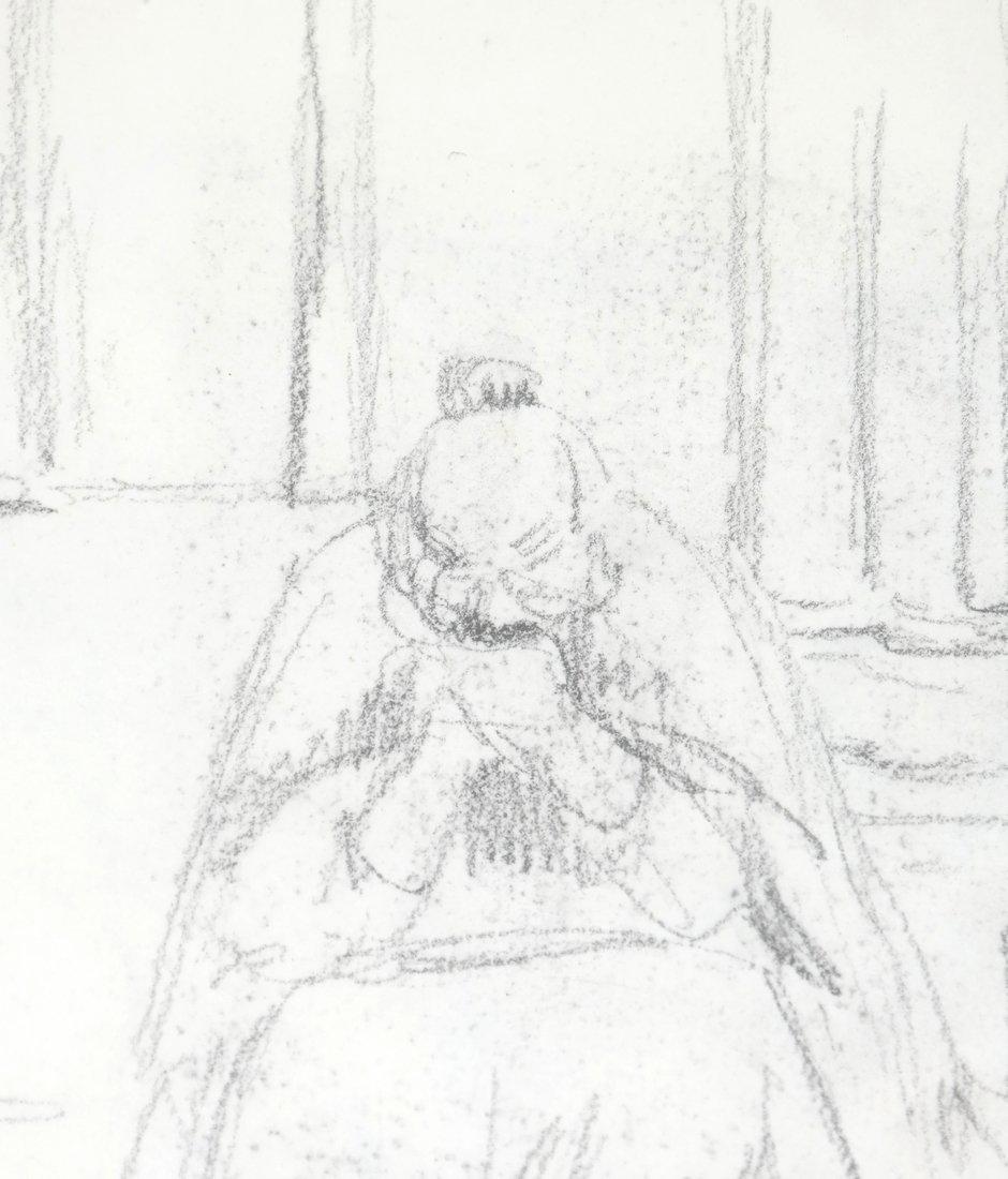 Kate Greenaway, Seated Woman, Drawing - 3
