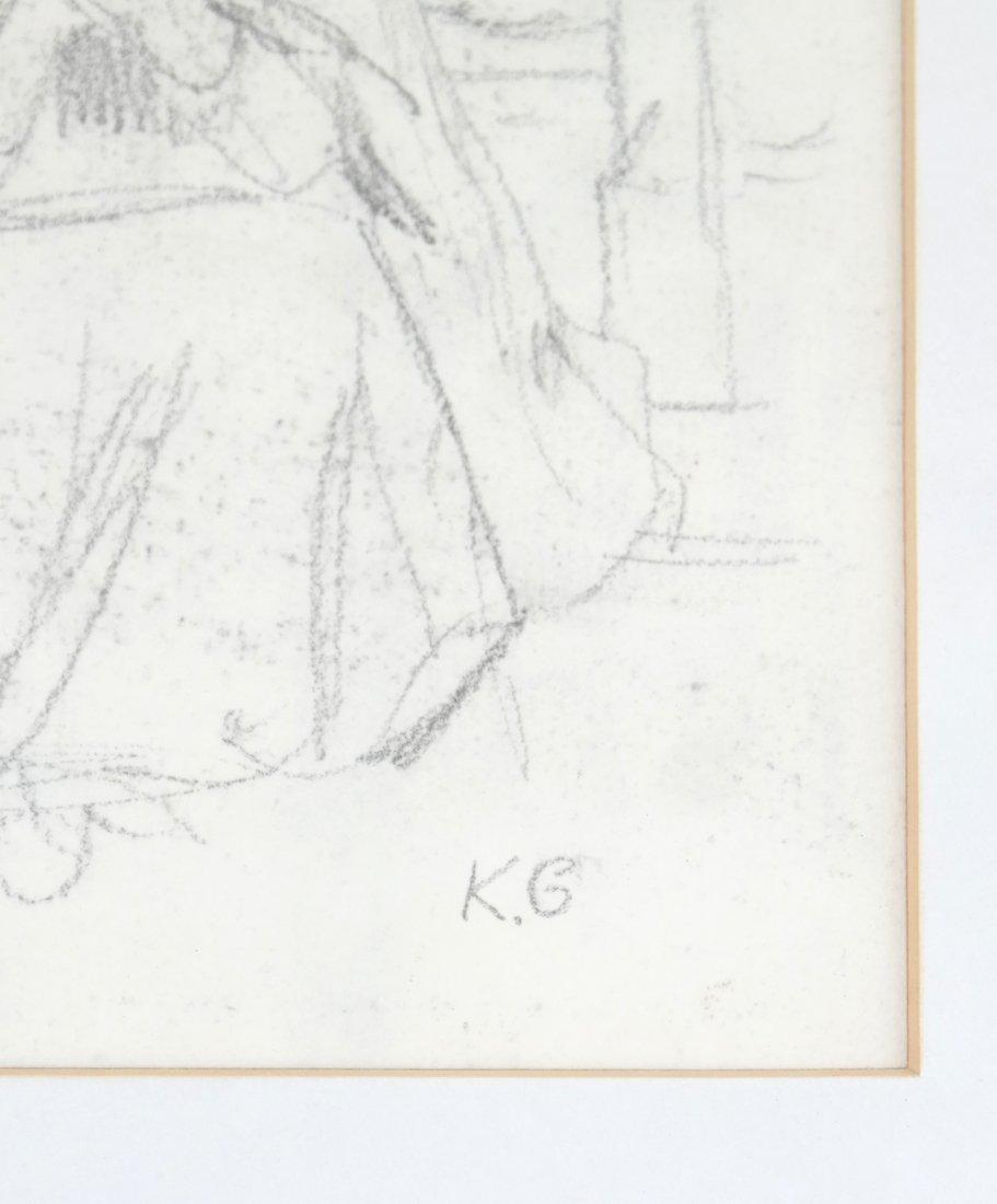 Kate Greenaway, Seated Woman, Drawing - 4