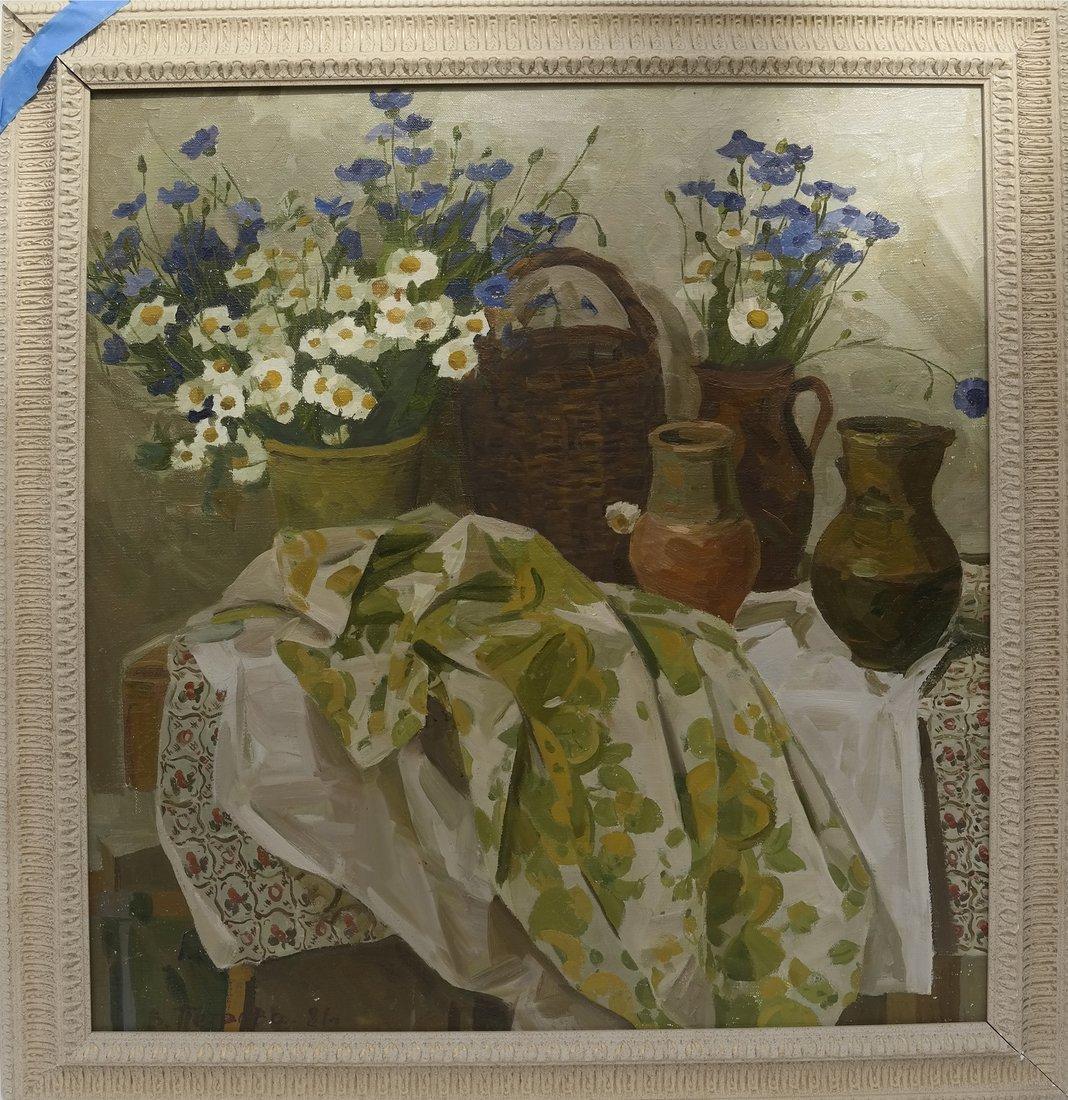 Still Life, Oil On Canvas - 2
