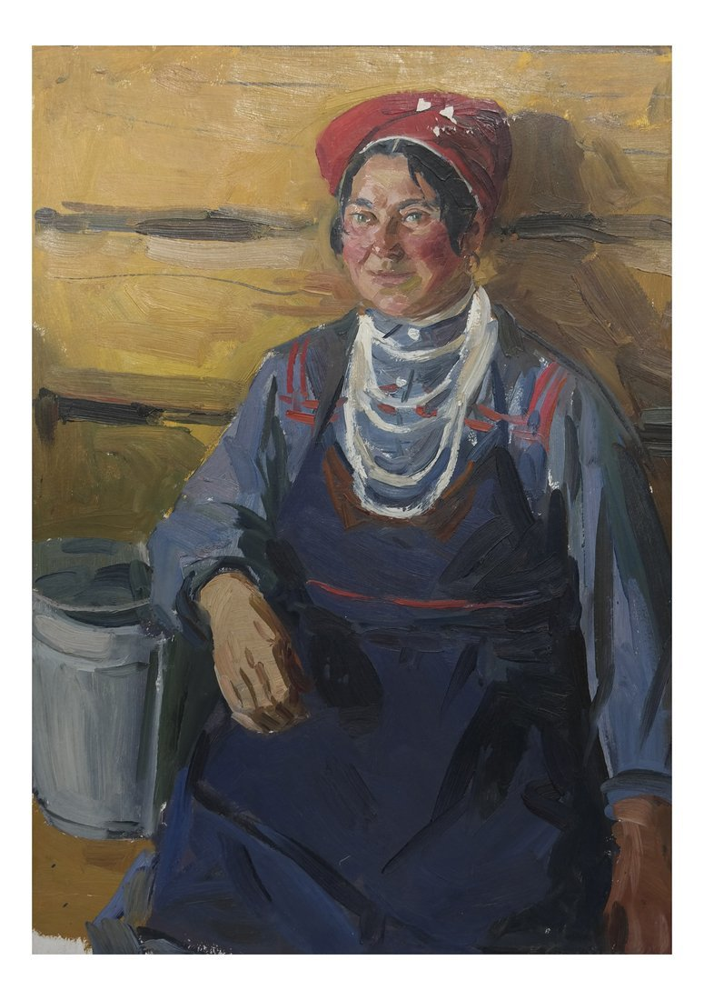 Modern Portrait of a Lady, Oil on Canvas