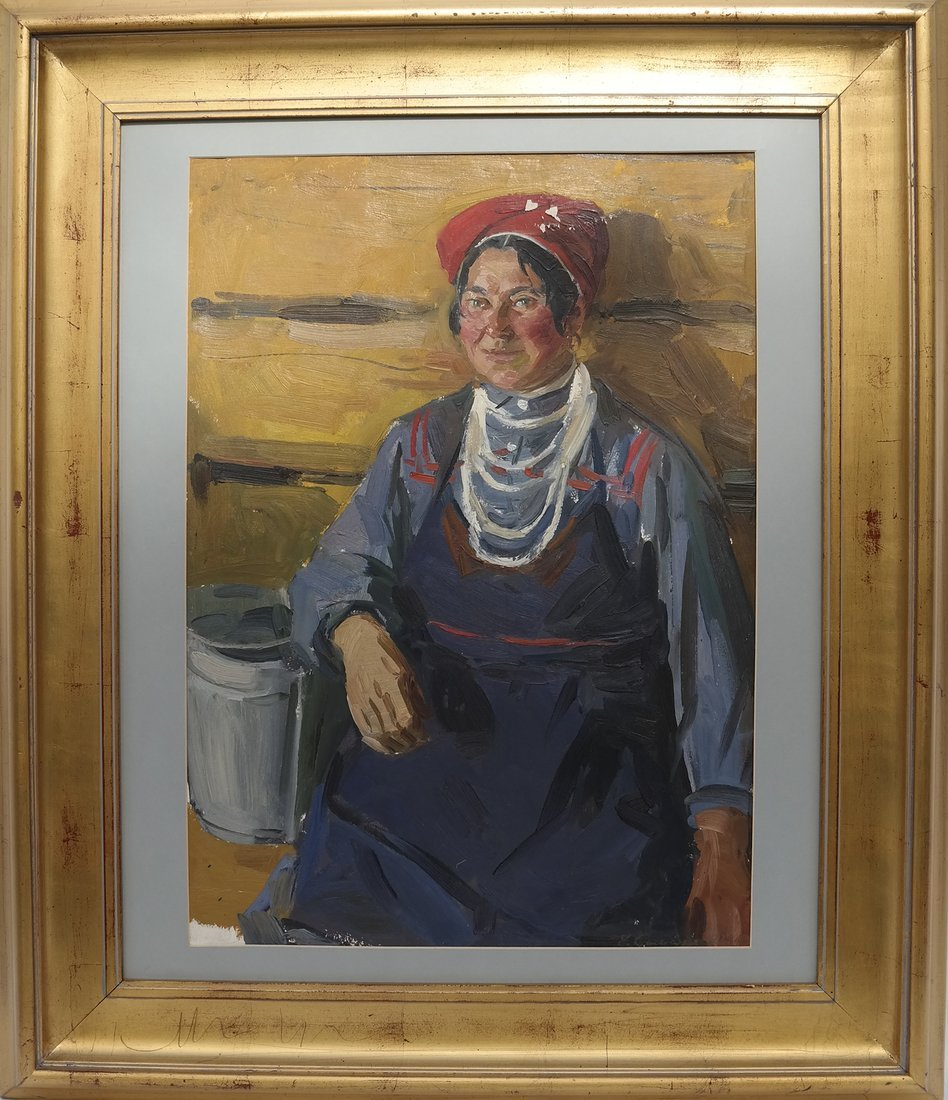 Modern Portrait of a Lady, Oil on Canvas - 2